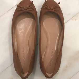 Banana Republic Leather Bow Ballet Flats Size 6